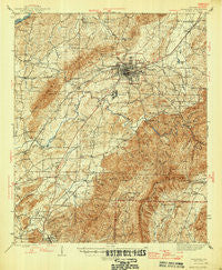 Talladega Alabama Historical topographic map, 1:62500 scale, 15 X 15 Minute, Year 1946
