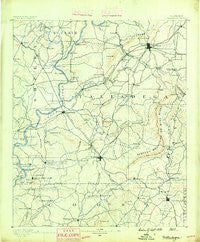 Talladega Alabama Historical topographic map, 1:125000 scale, 30 X 30 Minute, Year 1890