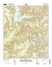 Tanner Williams Alabama Current topographic map, 1:24000 scale, 7.5 X 7.5 Minute, Year 2014 from Alabama Maps Store
