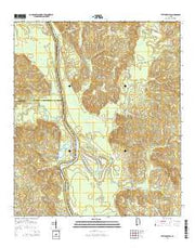 Tattlersville Alabama Current topographic map, 1:24000 scale, 7.5 X 7.5 Minute, Year 2014 from Alabama Maps Store