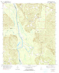 Tattlersville Alabama Historical topographic map, 1:24000 scale, 7.5 X 7.5 Minute, Year 1972