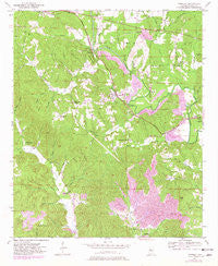 Townley Alabama Historical topographic map, 1:24000 scale, 7.5 X 7.5 Minute, Year 1949