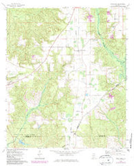 Uriah East Alabama Historical topographic map, 1:24000 scale, 7.5 X 7.5 Minute, Year 1972