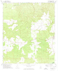 Uriah West Alabama Historical topographic map, 1:24000 scale, 7.5 X 7.5 Minute, Year 1972