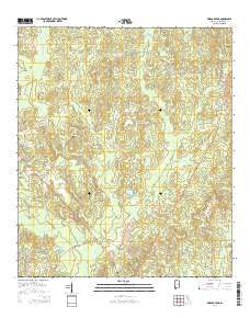 Vinegar Bend Alabama Current topographic map, 1:24000 scale, 7.5 X 7.5 Minute, Year 2014