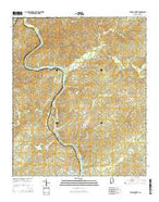 Wadley North Alabama Current topographic map, 1:24000 scale, 7.5 X 7.5 Minute, Year 2014 from Alabama Map Store