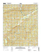 Wadley South Alabama Current topographic map, 1:24000 scale, 7.5 X 7.5 Minute, Year 2014 from Alabama Map Store
