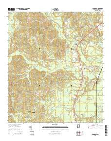Wagarville Alabama Current topographic map, 1:24000 scale, 7.5 X 7.5 Minute, Year 2014