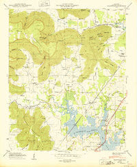 Wannville Alabama Historical topographic map, 1:24000 scale, 7.5 X 7.5 Minute, Year 1950
