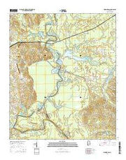 Warrior Dam Alabama Current topographic map, 1:24000 scale, 7.5 X 7.5 Minute, Year 2014 from Alabama Maps Store