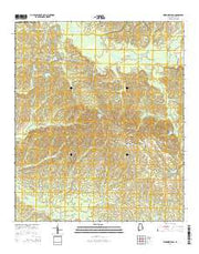Warriorstand Alabama Current topographic map, 1:24000 scale, 7.5 X 7.5 Minute, Year 2014 from Alabama Maps Store