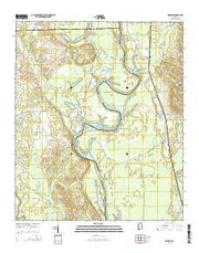 Warsaw Alabama Current topographic map, 1:24000 scale, 7.5 X 7.5 Minute, Year 2014 from Alabama Maps Store