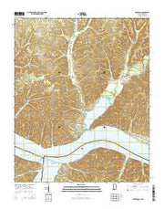 Waterloo Alabama Current topographic map, 1:24000 scale, 7.5 X 7.5 Minute, Year 2014 from Alabama Maps Store