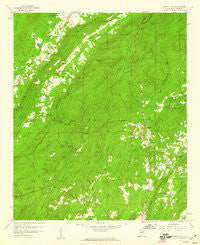 Wattsville Alabama Historical topographic map, 1:24000 scale, 7.5 X 7.5 Minute, Year 1958