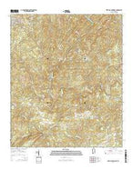 West Blocton East Alabama Current topographic map, 1:24000 scale, 7.5 X 7.5 Minute, Year 2014 from Alabama Map Store