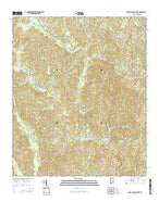 West Blocton West Alabama Current topographic map, 1:24000 scale, 7.5 X 7.5 Minute, Year 2014 from Alabama Map Store