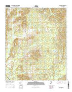 West Greene Alabama Current topographic map, 1:24000 scale, 7.5 X 7.5 Minute, Year 2014 from Alabama Map Store