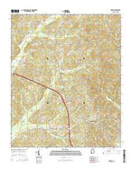Weston Alabama Current topographic map, 1:24000 scale, 7.5 X 7.5 Minute, Year 2014 from Alabama Map Store