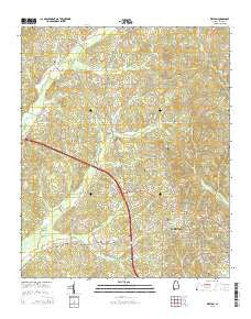 Weston Alabama Current topographic map, 1:24000 scale, 7.5 X 7.5 Minute, Year 2014