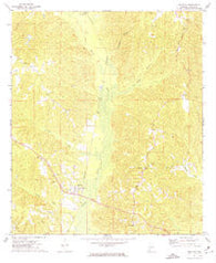 Whatley Alabama Historical topographic map, 1:24000 scale, 7.5 X 7.5 Minute, Year 1972