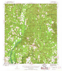 Wilmer Alabama Historical topographic map, 1:62500 scale, 15 X 15 Minute, Year 1942