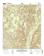 Wing Alabama Current topographic map, 1:24000 scale, 7.5 X 7.5 Minute, Year 2014 from Alabama Map Store