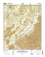 Winterboro Alabama Current topographic map, 1:24000 scale, 7.5 X 7.5 Minute, Year 2014 from Alabama Map Store