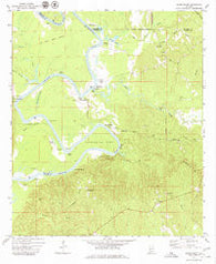 Woods Bluff Alabama Historical topographic map, 1:24000 scale, 7.5 X 7.5 Minute, Year 1972