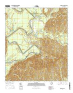 Woods Bluff Alabama Current topographic map, 1:24000 scale, 7.5 X 7.5 Minute, Year 2014 from Alabama Map Store