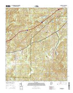 Woodstock Alabama Current topographic map, 1:24000 scale, 7.5 X 7.5 Minute, Year 2014 from Alabama Map Store