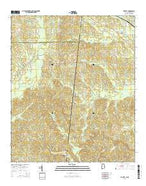 Yantley Alabama Current topographic map, 1:24000 scale, 7.5 X 7.5 Minute, Year 2014 from Alabama Map Store
