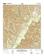 Youngblood Alabama Current topographic map, 1:24000 scale, 7.5 X 7.5 Minute, Year 2014 from Alabama Map Store
