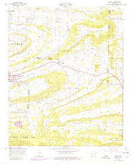 Abbott Arkansas Historical topographic map, 1:24000 scale, 7.5 X 7.5 Minute, Year 1948