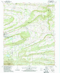 Abbott Arkansas Historical topographic map, 1:24000 scale, 7.5 X 7.5 Minute, Year 1987