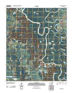 Aberdeen Arkansas Historical topographic map, 1:24000 scale, 7.5 X 7.5 Minute, Year 2011