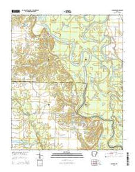 Aberdeen Arkansas Current topographic map, 1:24000 scale, 7.5 X 7.5 Minute, Year 2014