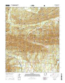 Acorn Arkansas Current topographic map, 1:24000 scale, 7.5 X 7.5 Minute, Year 2014