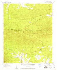 Acorn Arkansas Historical topographic map, 1:24000 scale, 7.5 X 7.5 Minute, Year 1958