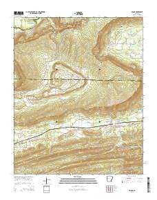 Adona Arkansas Current topographic map, 1:24000 scale, 7.5 X 7.5 Minute, Year 2014
