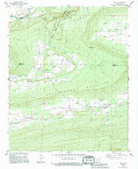Adona Arkansas Historical topographic map, 1:24000 scale, 7.5 X 7.5 Minute, Year 1989