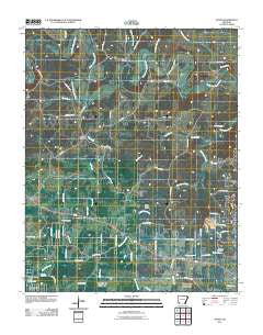 Agnos Arkansas Historical topographic map, 1:24000 scale, 7.5 X 7.5 Minute, Year 2011