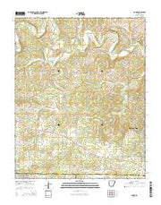 Agnos Arkansas Current topographic map, 1:24000 scale, 7.5 X 7.5 Minute, Year 2014 from Arkansas Maps Store