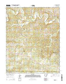 Agnos Arkansas Current topographic map, 1:24000 scale, 7.5 X 7.5 Minute, Year 2014