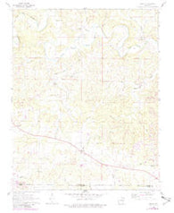 Agnos Arkansas Historical topographic map, 1:24000 scale, 7.5 X 7.5 Minute, Year 1962