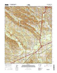 Alexander Arkansas Current topographic map, 1:24000 scale, 7.5 X 7.5 Minute, Year 2014