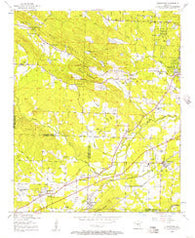 Alexander Arkansas Historical topographic map, 1:24000 scale, 7.5 X 7.5 Minute, Year 1954