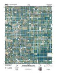 Altheimer Arkansas Historical topographic map, 1:24000 scale, 7.5 X 7.5 Minute, Year 2011