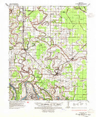 Altheimer Arkansas Historical topographic map, 1:62500 scale, 15 X 15 Minute, Year 1935