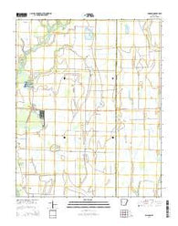 Amagon Arkansas Current topographic map, 1:24000 scale, 7.5 X 7.5 Minute, Year 2014