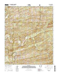 Amity Arkansas Current topographic map, 1:24000 scale, 7.5 X 7.5 Minute, Year 2014